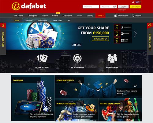dafabet online poker
