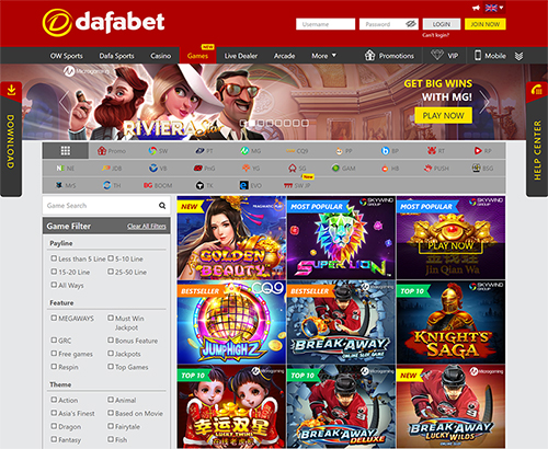 dafabet slot games